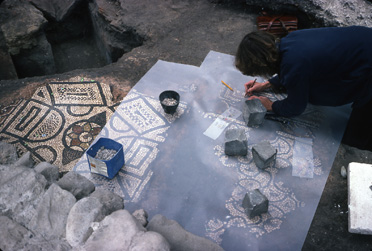 1979: a room with a 5th-century mosaic is uncovered